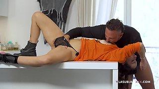 Kinky fucking in the kitchen with pornstar wife Priscilla Salerno