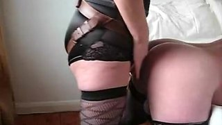 Husband takes a biggest 10-Pounder up his ass from wife