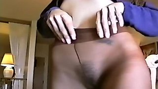 Tempting compilation of nylon fetish fun