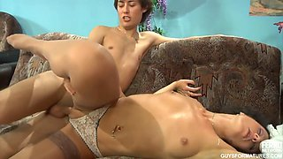 Russian Milf Makes A Young Studs Day