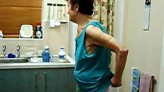 Very old skinny granny