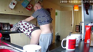 Housewife milf mum mom shagged kitchen hidden ip camera
