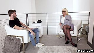 MYLF Big Tit Blonde MILF Dr. Cum Release Therapy