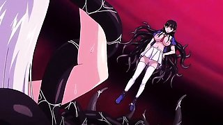Horny horror anime clip with uncensored bondage, anal,
