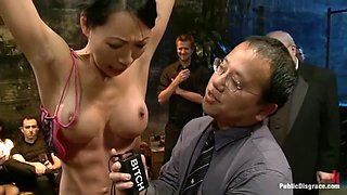 Group domination with an Asian girl