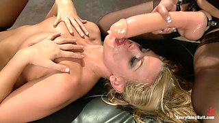 Incredible gaping, fetish adult scene with horny pornstars Roxy Raye and Amber Rayne from Everythingbutt