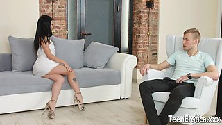 Raven Haired Hottie Cassie Fire Is Devoted to Cock