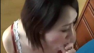 Japanese milf seduce her son's classmates at home - 2 on filfcam.com