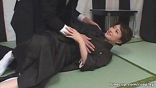 Cosplay Porn: Asians Nurses Cosplay Japanese MILF Nurse Fucked Doctors Office part 2