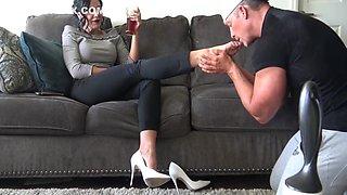 Goddess Zephy Worship My White Heels And Feet