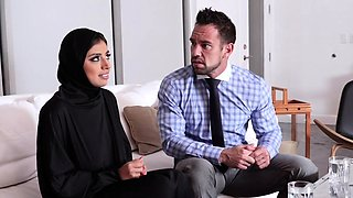 Muslim teen gets pussy creampied