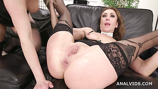 Anal Madness in Orgy With Nasty Crazy MILF Brittany and Julia 1