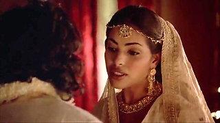 Indira Varma and Sarita Choudhury in a kamasutra movie
