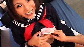 Delightful Oriental teen is addicted to hard sex and bukkake