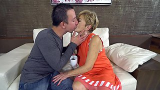 Old and young porn video of youngster and insatiable granny