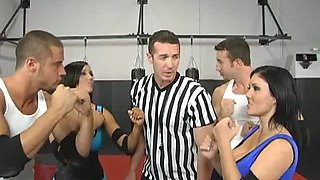 Sexy Fighters End Up Having A Foursome With Horny Refs