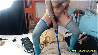 Hot Brunette extreme masturbation