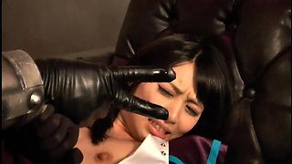 Desirable Asian babe in costume gets nailed by a monster