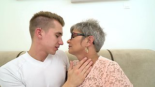 Grey-haired granny wants to get fucked by young dick once again
