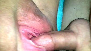 This slut loves to tickle her clit with her vibrator during vaginal penetration