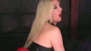Hot Blonde Mistress Rides Her Slave