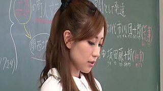Wild fucking after class with teacher Maeda Kaori - compilation