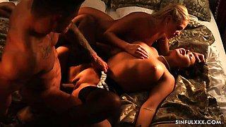 Maid Serves Landlord amp  Landlady - FFM Threesome Stories